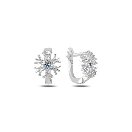 Ürün resmi: Akuamarin Zirkon (Açık Mavi) Kartanesi Zirkon Taşlı Gümüş Kız Çocuk Küpe